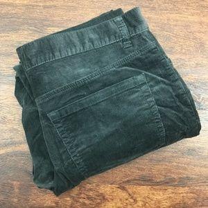 MICHAEL KORS Straight Leg Dark Gray Corduroy Pants